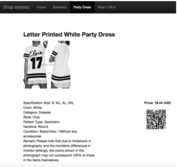 Slika 4: Prikaz proizvoda veb aplikacije