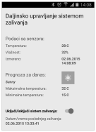 Slika 6: Izgled Android aplikacije